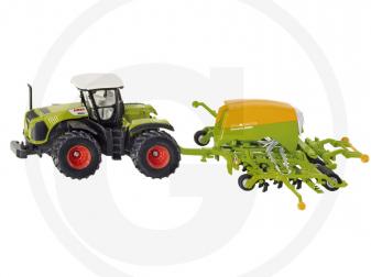 Играчка трактор CLAAS и сеялка AMAZONE мащаб 1:87